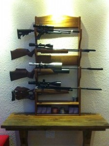 Mahogany Rifle rack